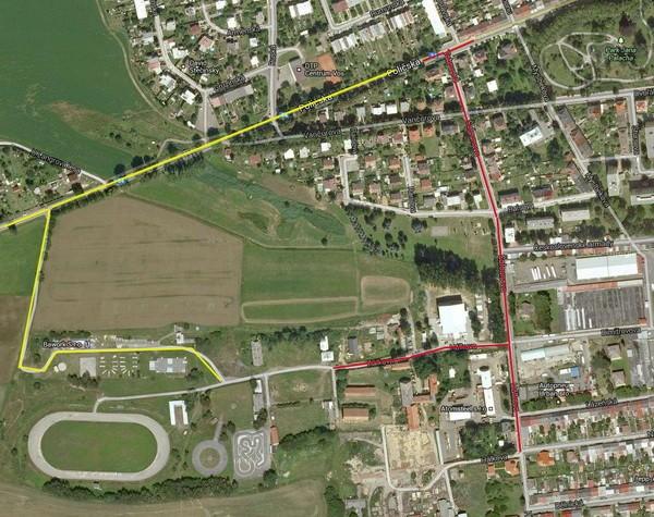 Mapa - příjezd do stanového městečka